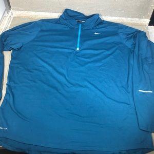 Nike Running Dri-Fit Quarter zip Blue jacket XXL